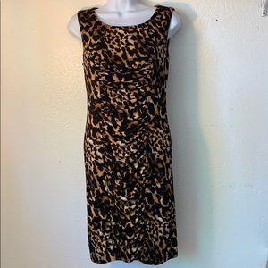 Calvin Klein rouched Animal Print dress size 4
